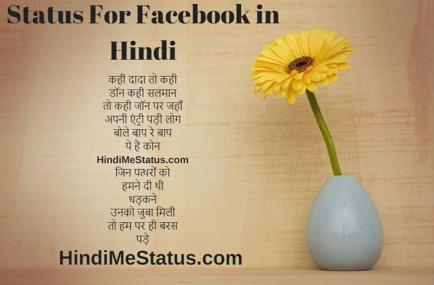 Status For Facebook in Hindi