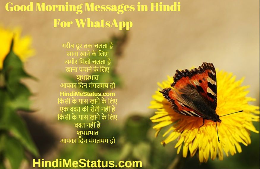 Good Morning Messages in Hindi For WhatsApp