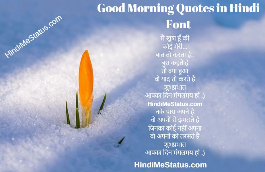 Best Good Morning Quotes in Hindi Fonts